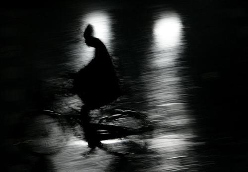 dviratis nakty