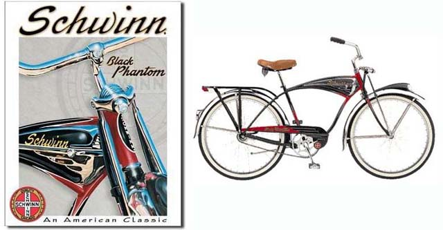1949-1959-1995 m. Schwinn Black Phantom