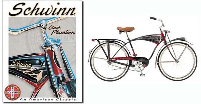1949-1959-1995 m. Schwinn Black Phantom
