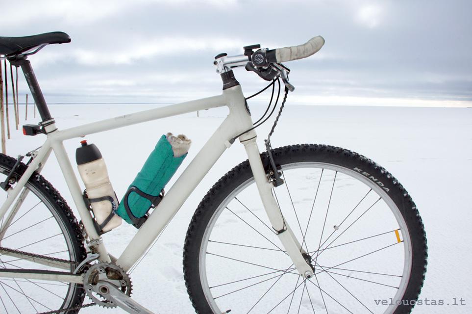 dviratis ziema